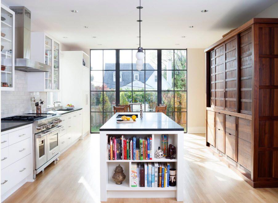 Тъмен дизайн на кухнята