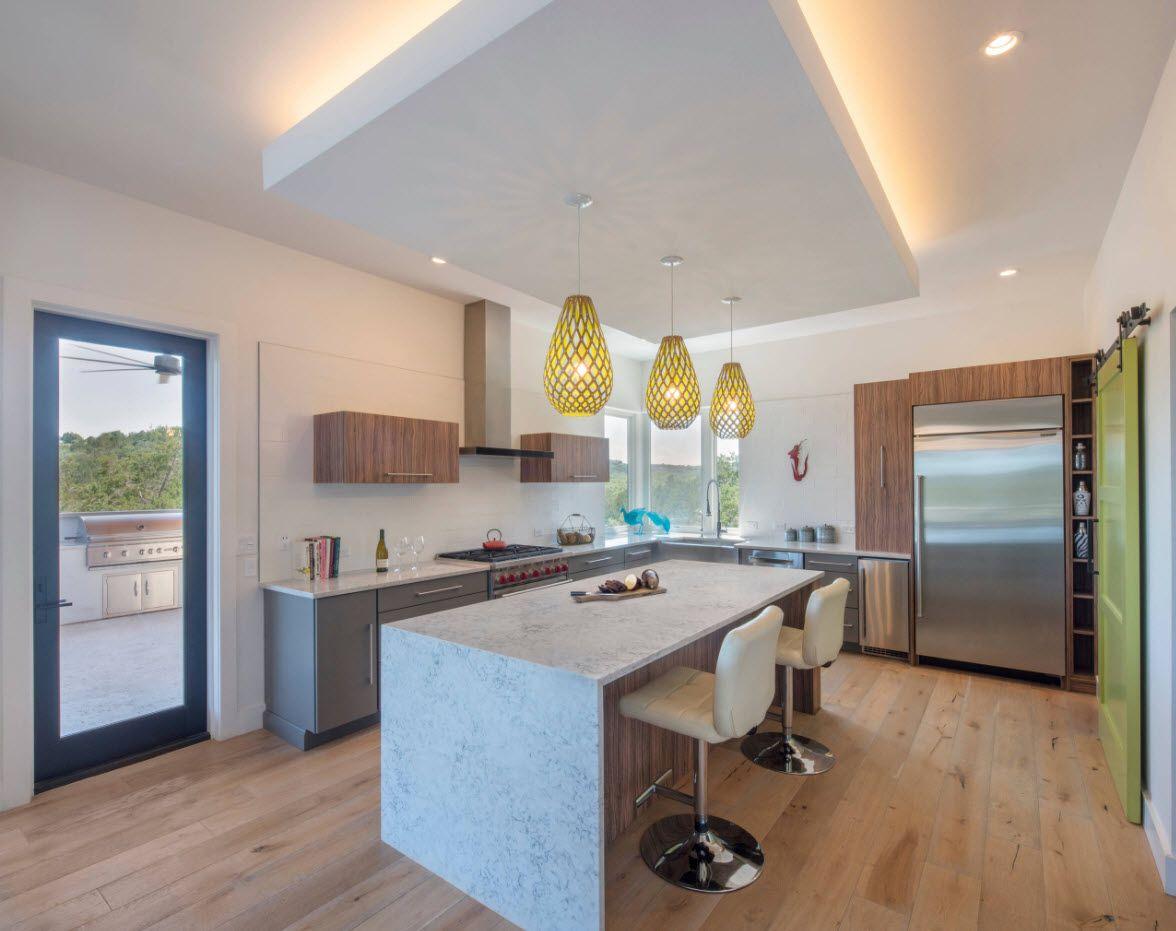 Осветление в модерната кухня