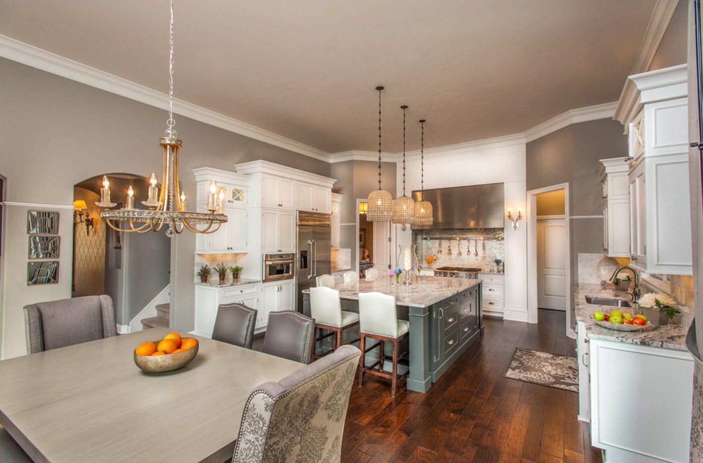 Интерьер просторной кухни-столовой