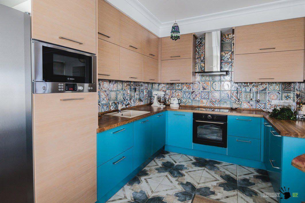 Колоритный кухонный гарнитур