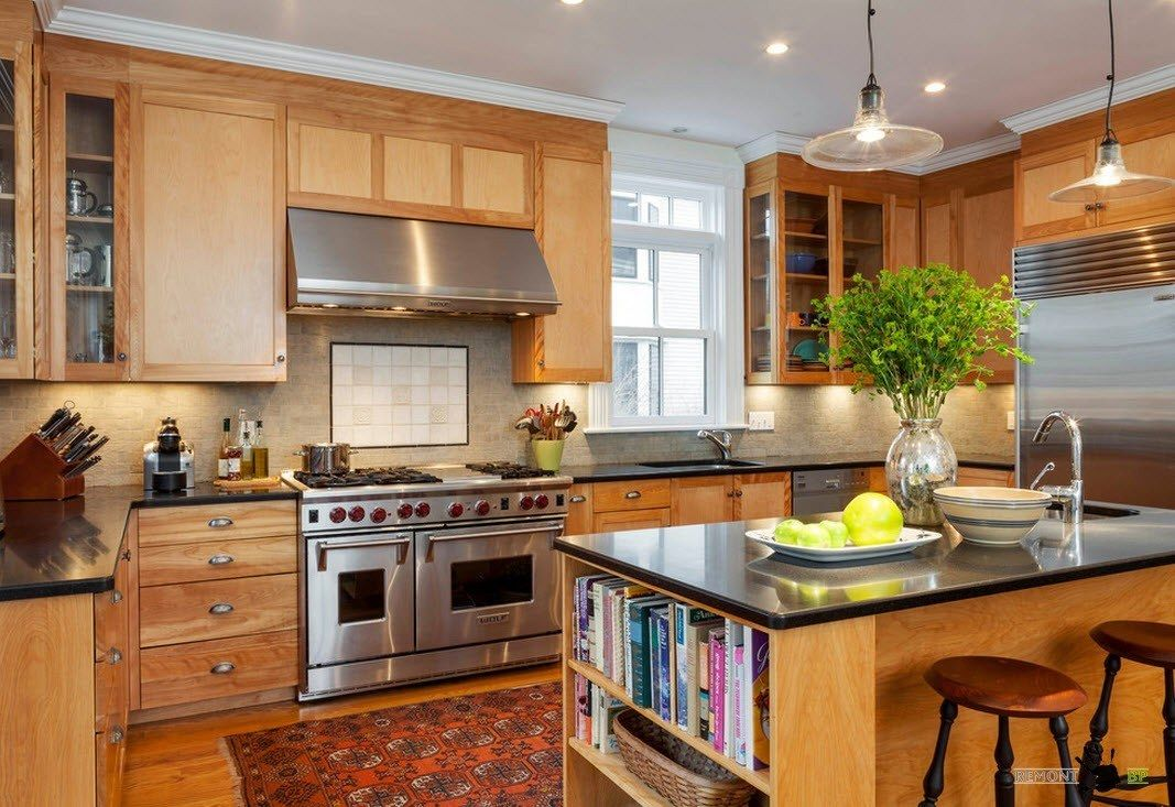 Однорядная компоновка для кухонного гарнитура