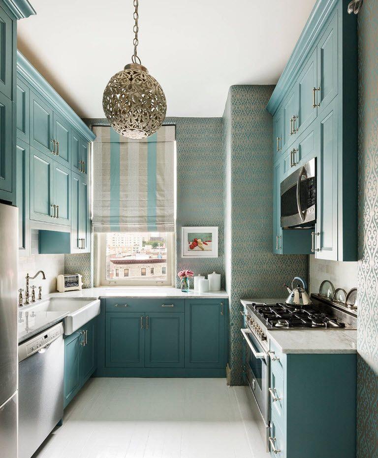 Кухня в тюркоазени цветове