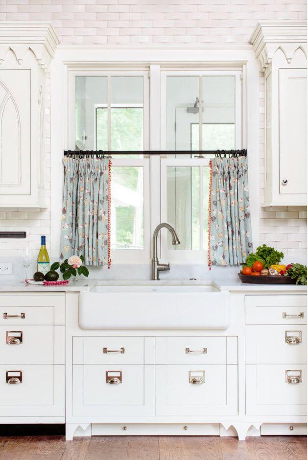 Къси кухненски завеси
