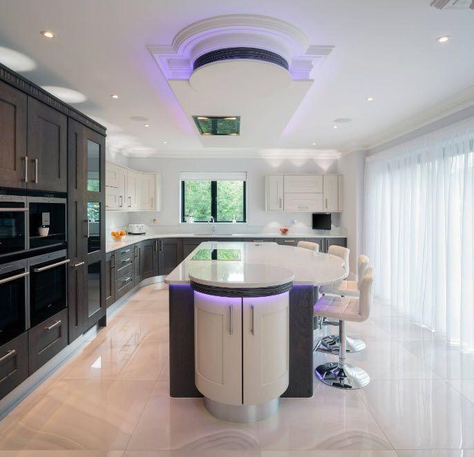 Визуално увеличаване на височината на кухнята