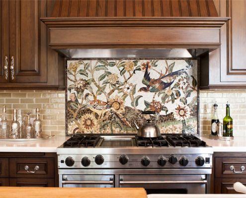 25 beste ideer for å dekorere et kjøkken med keramiske fliser på bildet