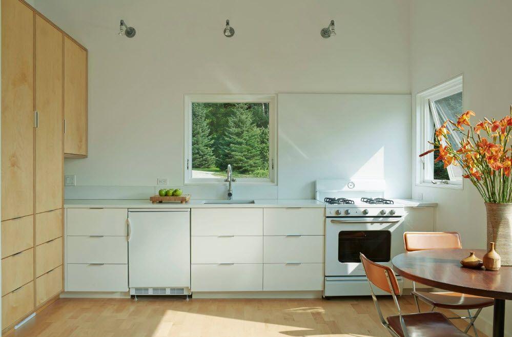 Выбор цвета для небольшой кухни