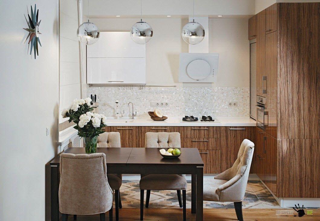 Мягкие кресла в кухне