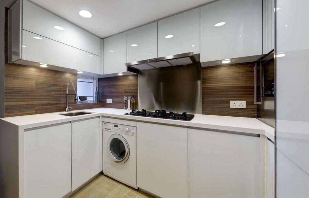 Moderne kjøkken på en liten plass