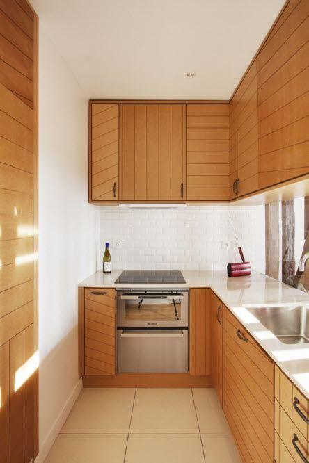 Теплая палитра кухонного помещения