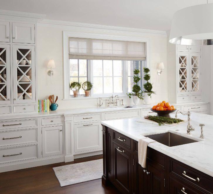 Открытые полки в дизайне кухни