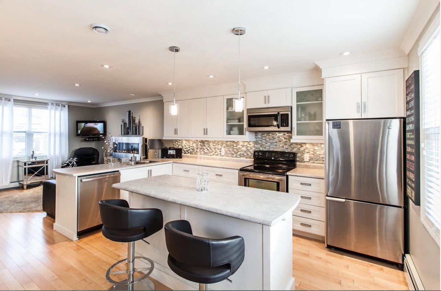 Система освещения кухни-гостиной