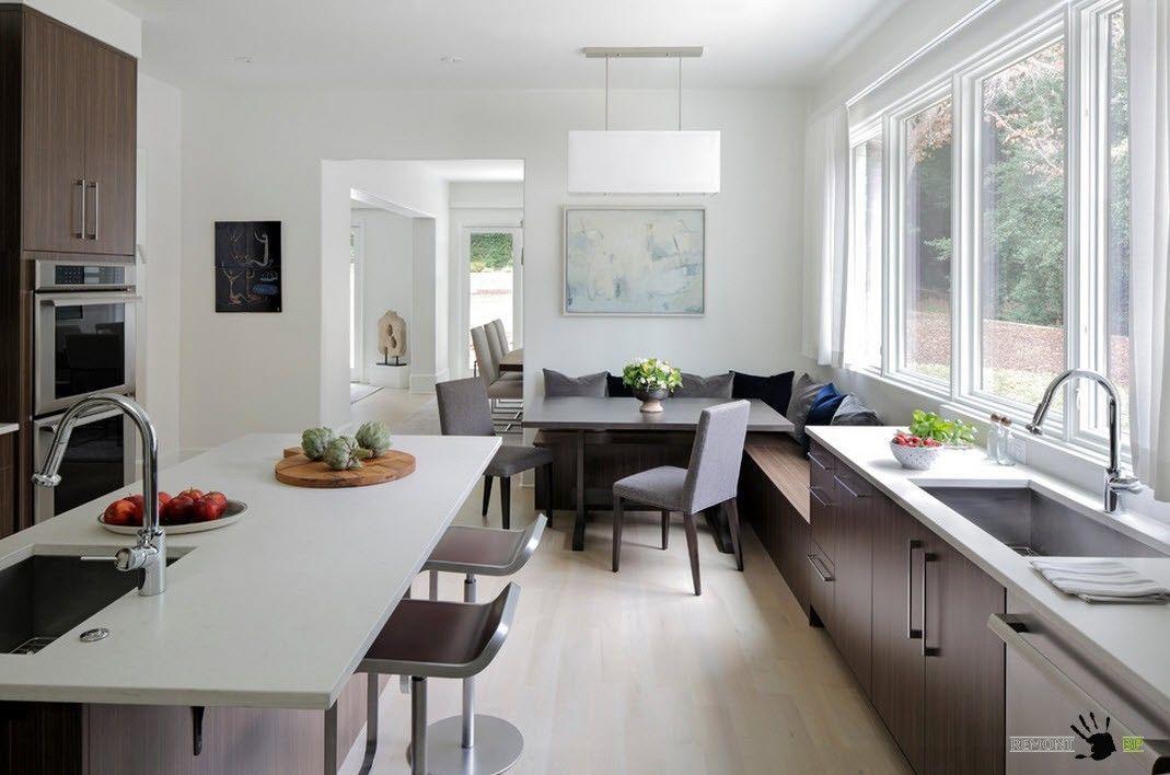 Кухня в два ряда