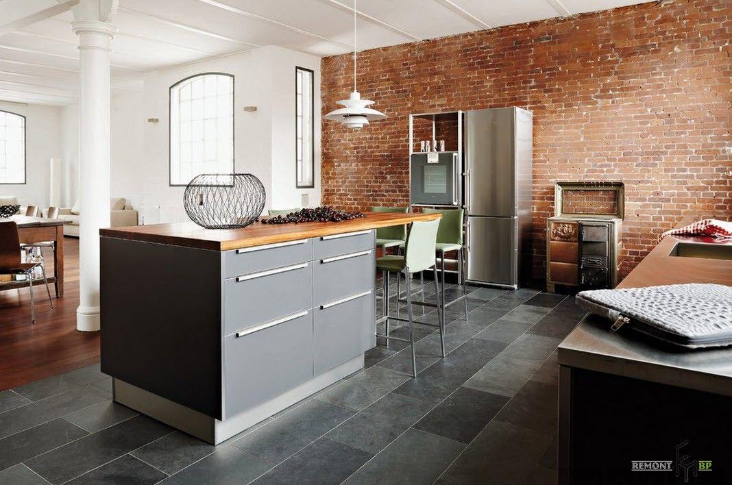 Серый цвет на кухне