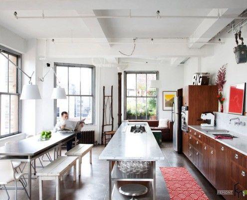 Кухненско пространство в стил лофт