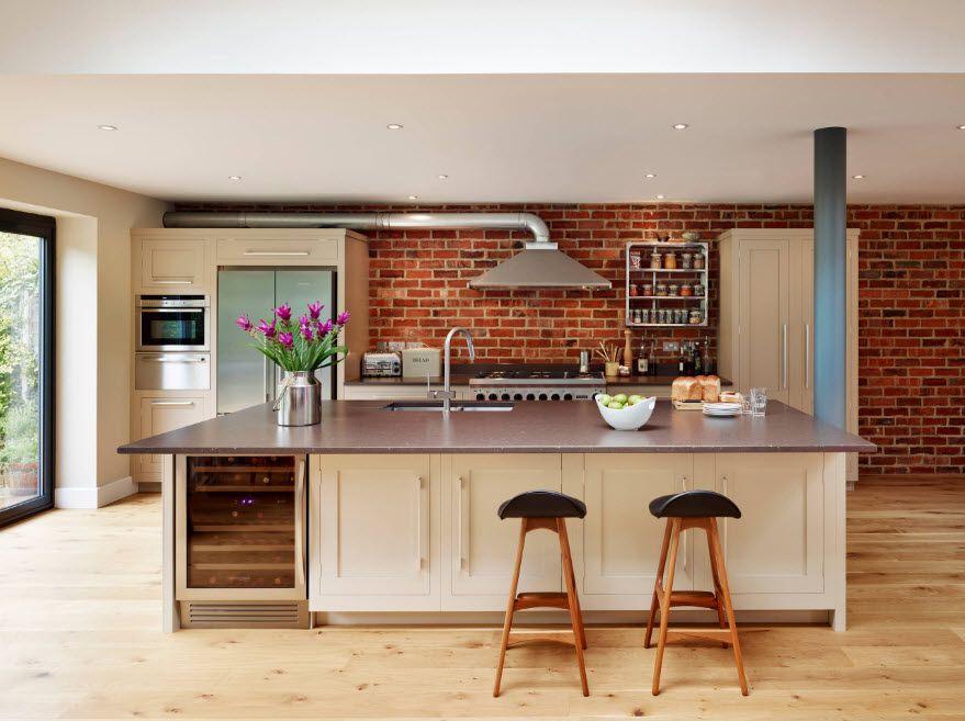 Кухня в стил лофт