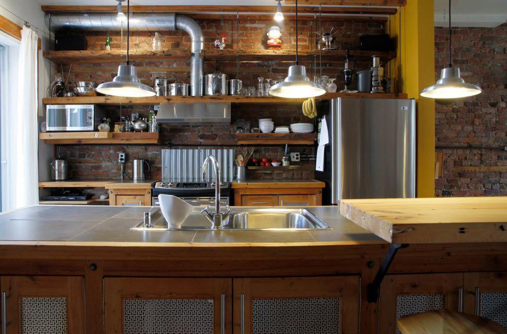 Необичайно кухненско таванско помещение