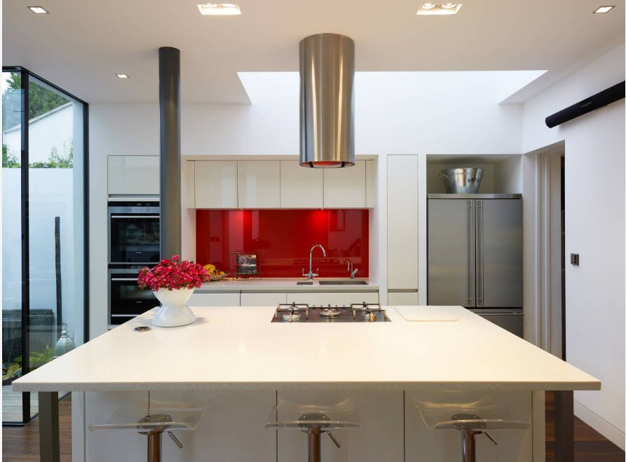 Кухонная вытяжка: 100 идей дизайна на фото