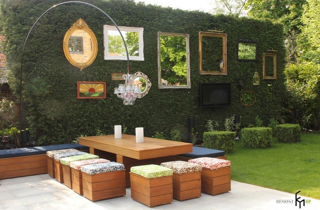 Външни мебели от дърво