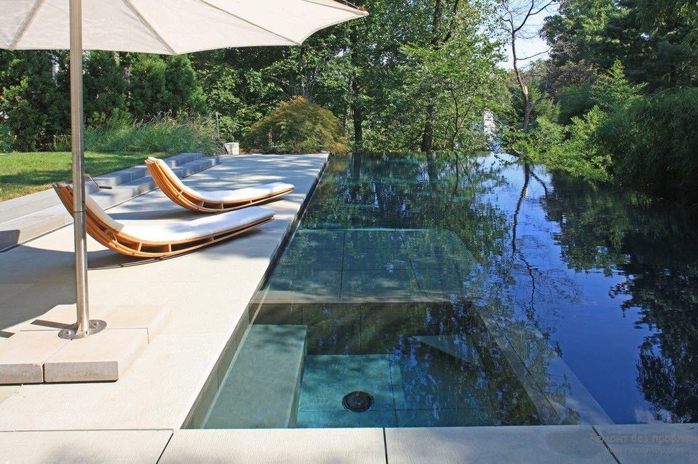 необыкновенно эффектный дизайн открытого бассейна