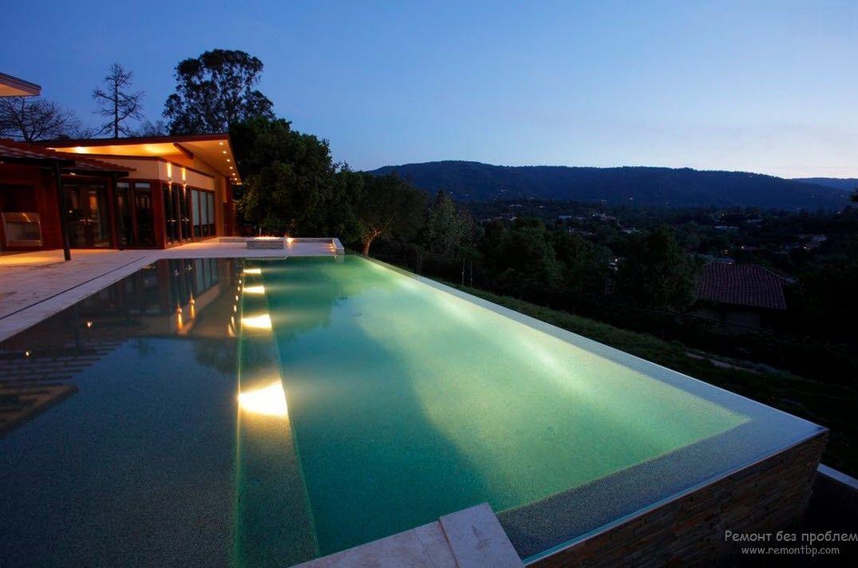 Шикарный дизайн бассейна в загородном доме