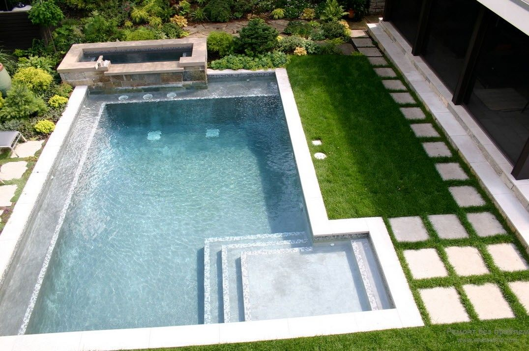 Дизайн небольшого открытого бассейна