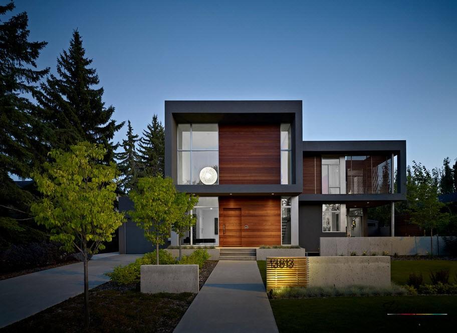 Dom ozdobiony drewnem