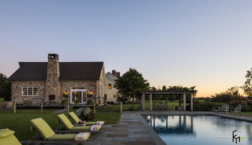 Dom wykonany z kamienia naturalnego