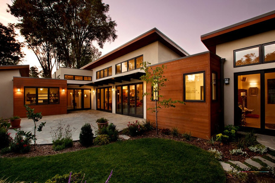 Стильный дизайн загородных домов и коттеджей в современном стиле на фото