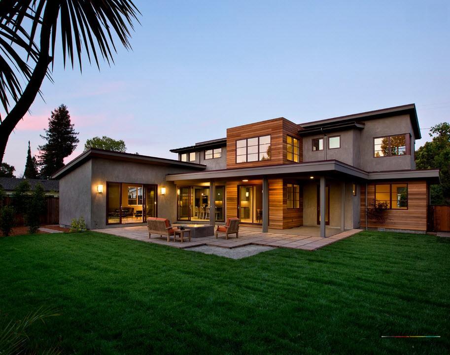 Стилен дизайн на селски къщи и вили в модерен стил на снимката