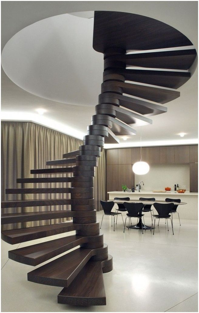 Spiraltrapp: et grasiøst designelement i hjemmet ditt