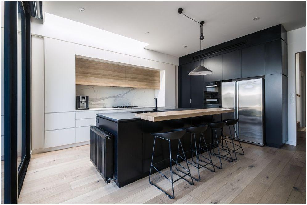 Кухня-хол с бар: снимки на интериори в различен тематичен дизайн
