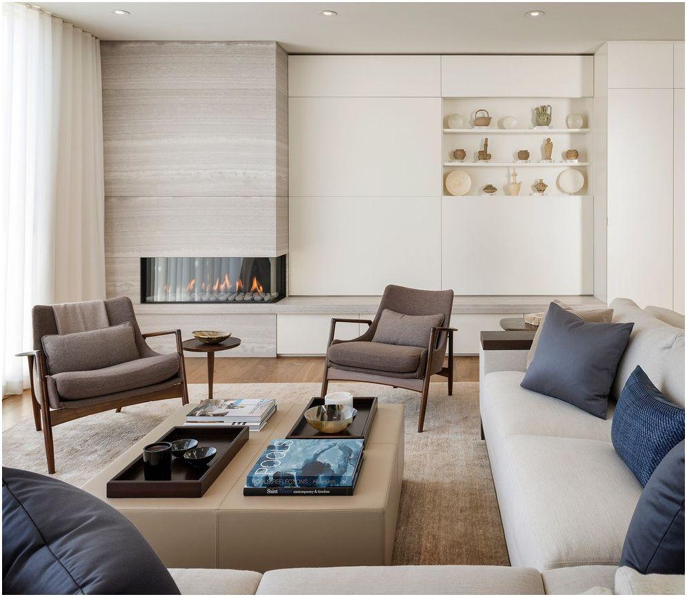 Камина в хола: стилни дизайнерски решения 2019