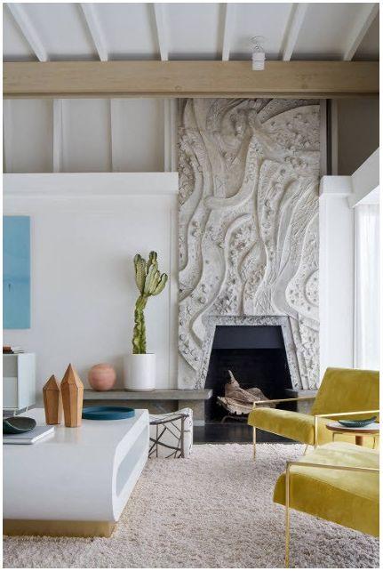 Kominek w salonie: stylowe rozwiązania projektowe 2019