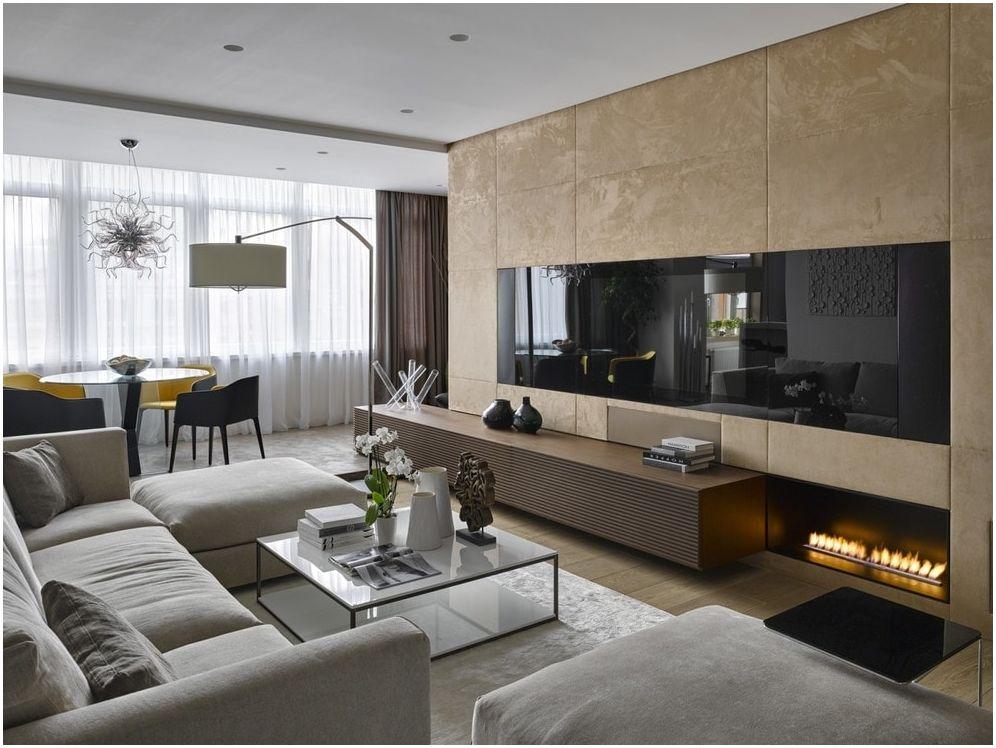 Stue 19 kvm. m: multifunksjonelle prosjekter for enhver stil i hus eller leilighet
