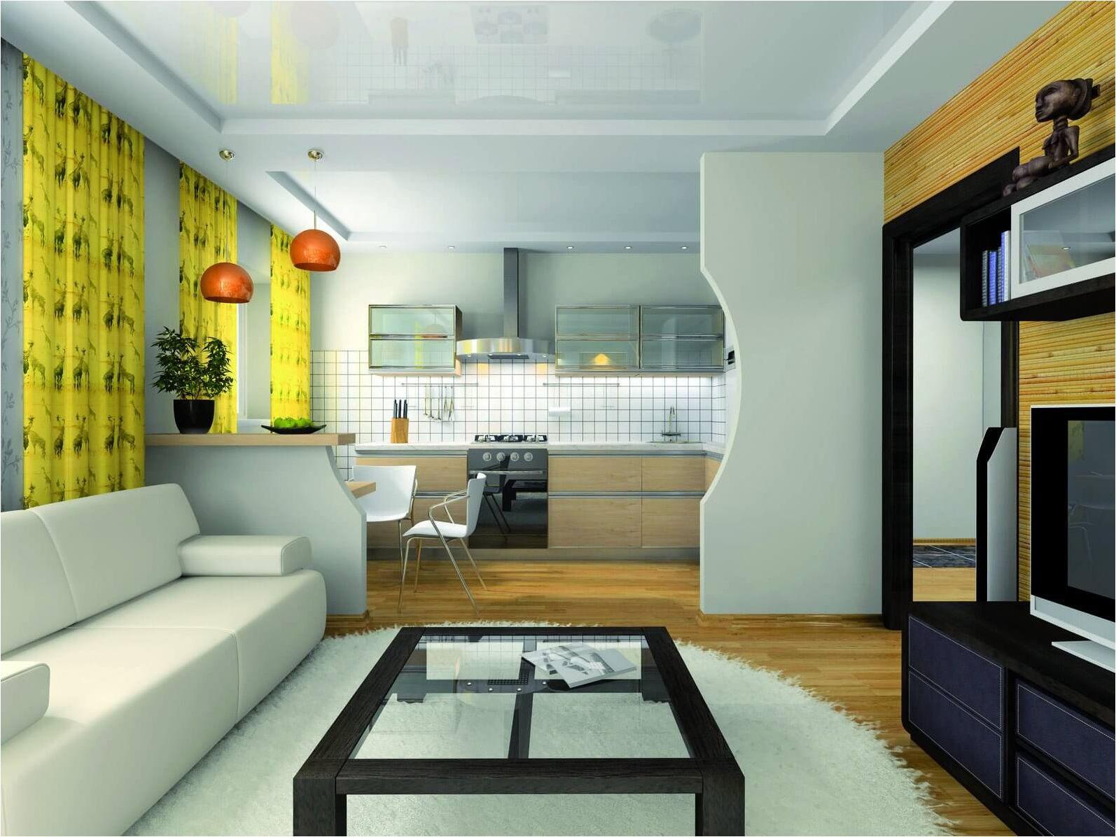 уютна кухня, съчетана с хола