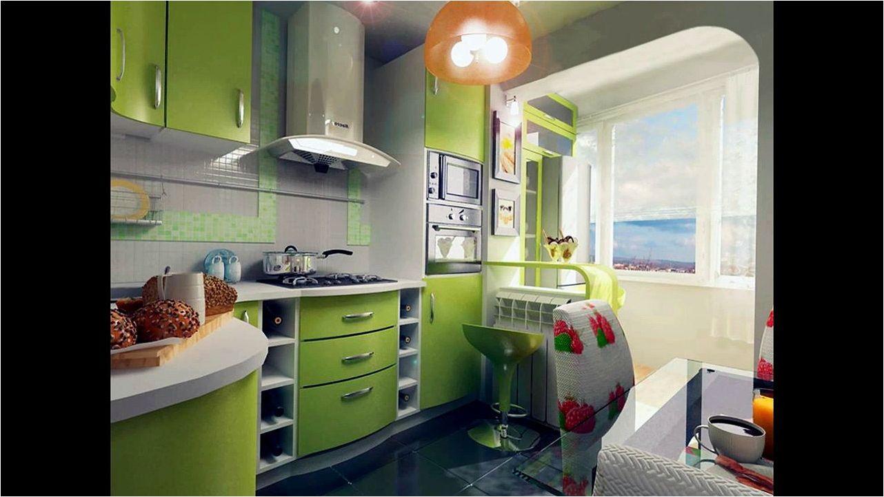 cuisine verte avec balcon