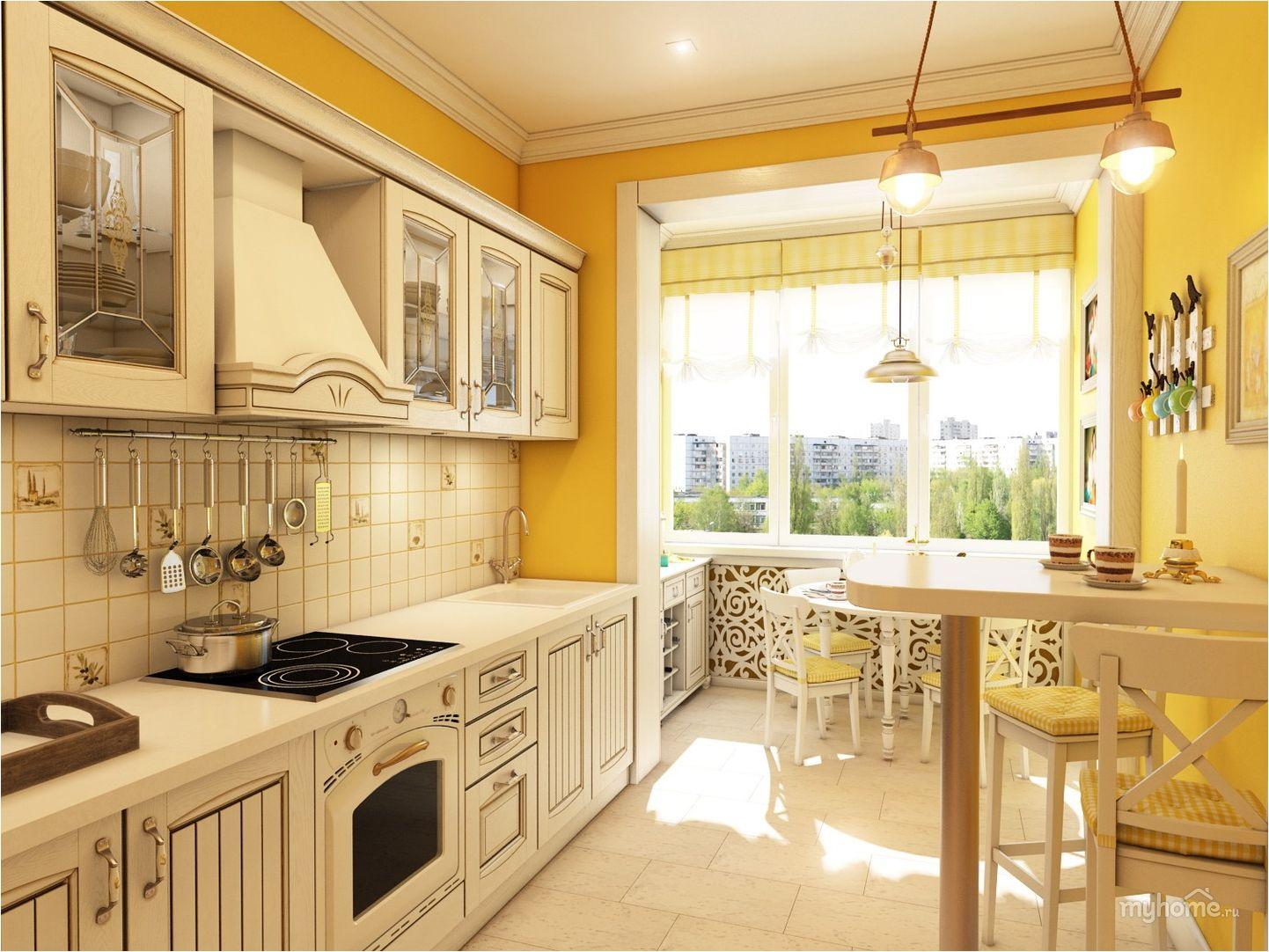cuisine lumineuse avec balcon
