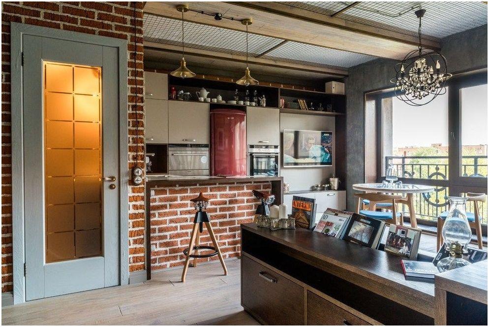 100 уютни идеи за голямо пространство: Кухня-хол 25 кв. m
