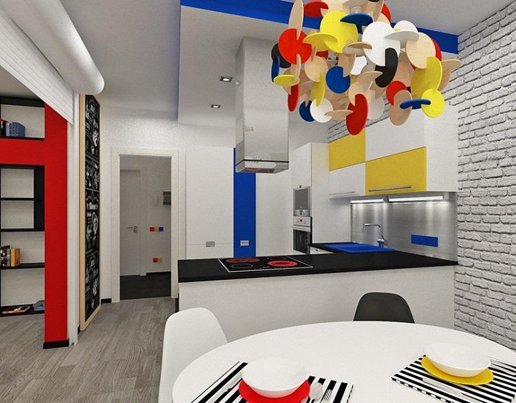 Inredning för köket i stil med Bauhaus-10