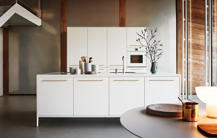 Interior design for the kitchen in the style of the Bauhaus-15