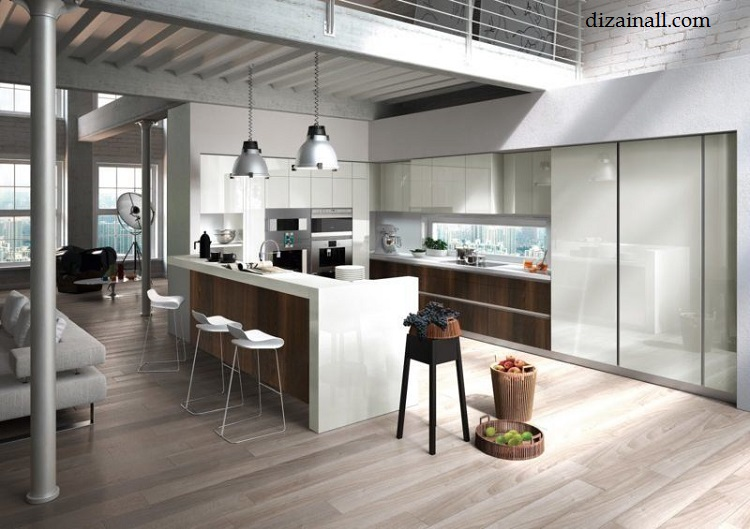 Interior design for the kitchen in the style of the Bauhaus-16