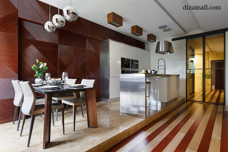 Interior design for the kitchen in the style of the Bauhaus-2
