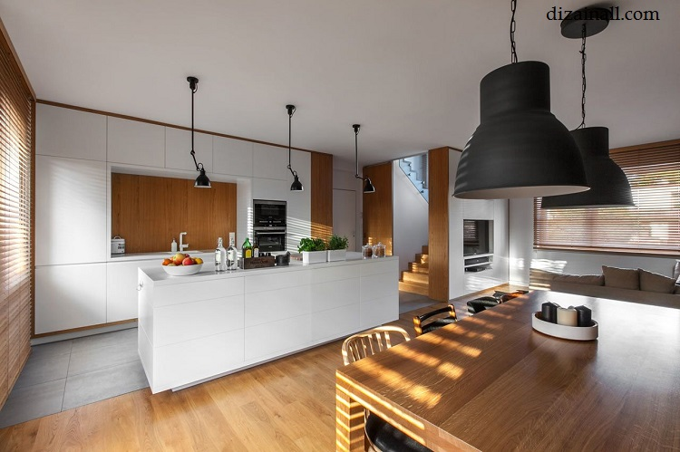 Interior design for the kitchen in the style of the Bauhaus-4