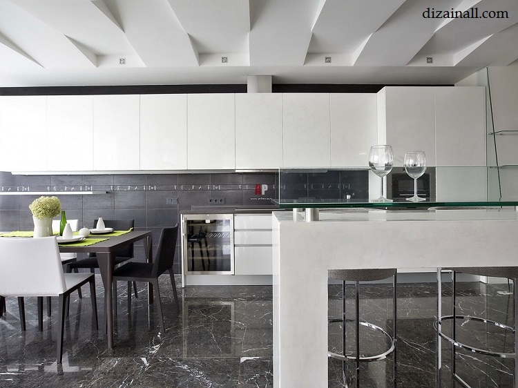 Interior design for the kitchen in the style of the Bauhaus-5