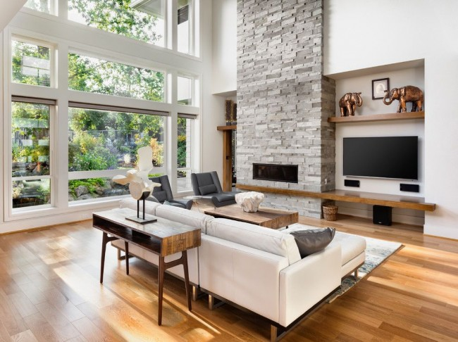 Nowoczesne wnętrze - najlepsze pomysły na projekt salonu 2020-24