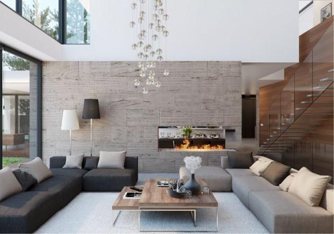 Nowoczesne wnętrze - najlepsze pomysły na projekt salonu 2020-33