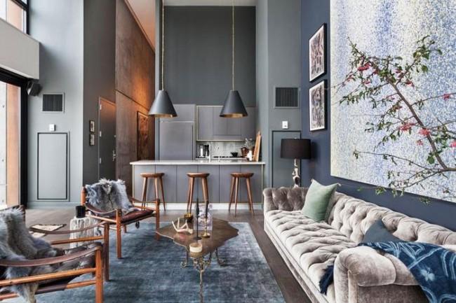 Nowoczesne wnętrze - najlepsze pomysły na projekt salonu 2020-34