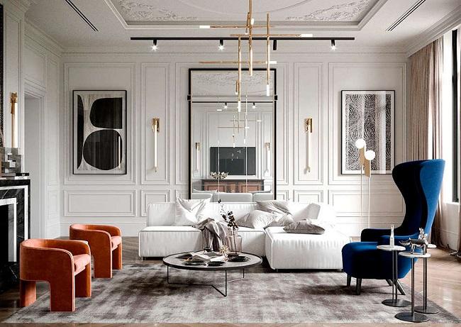 Nowoczesne wnętrze - najlepsze pomysły na projekt salonu 2020-39
